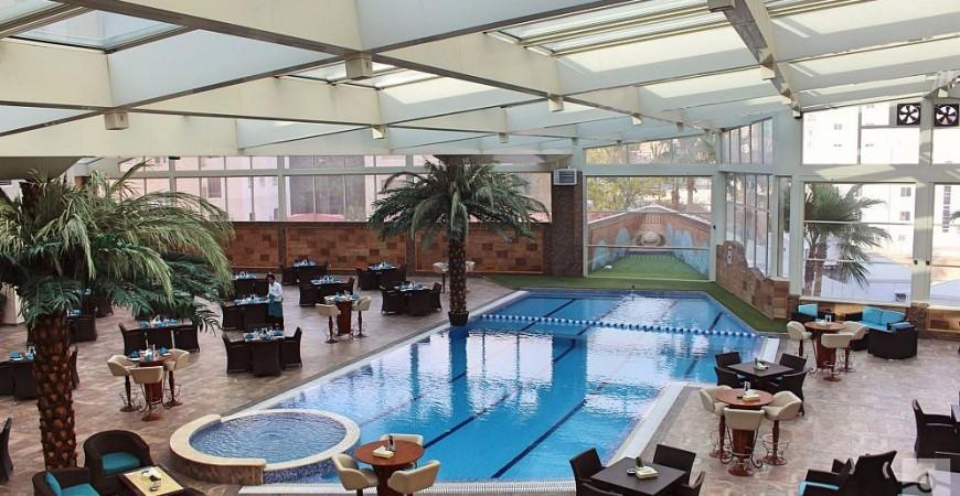 Ürdün-Amman Bristol Otel Kapalı Havuz Çelik Kontrüksiyon Çatı Projesi